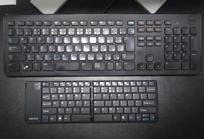 BSKBB15BK とパソコン用キーボードの比較