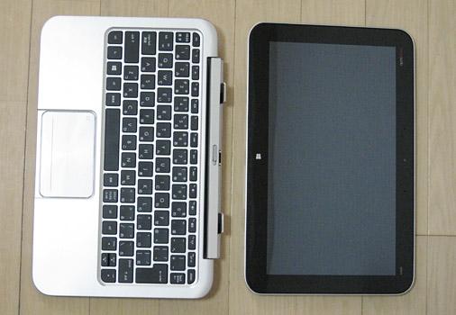 このように画面とキーボードが分かれます