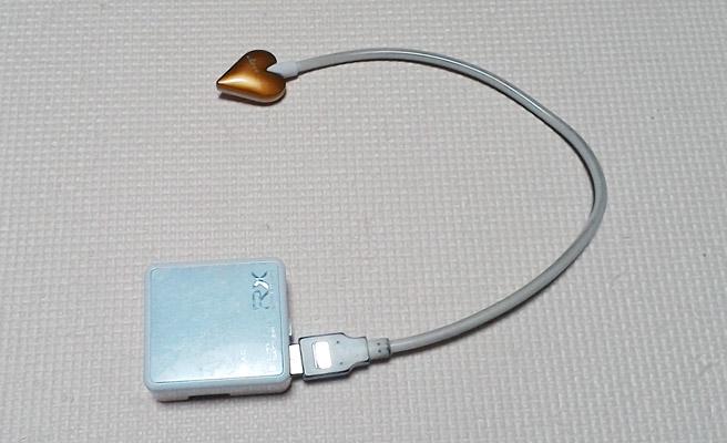 モバイルバッテリーにUSBライトを接続
