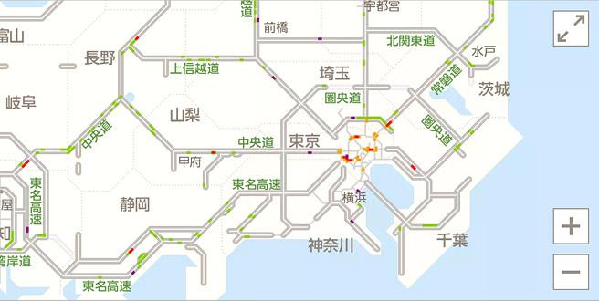 Y!道路交通情報 広域
