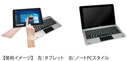 2 in 1 のWindows ノートパソコンのスペック