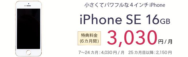 6GB以上のプランならiPhone SEが実質39,120円