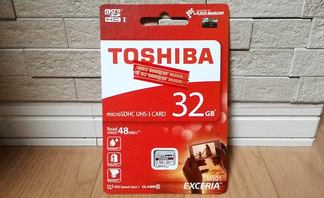 TOSHIBAの32GB microSD