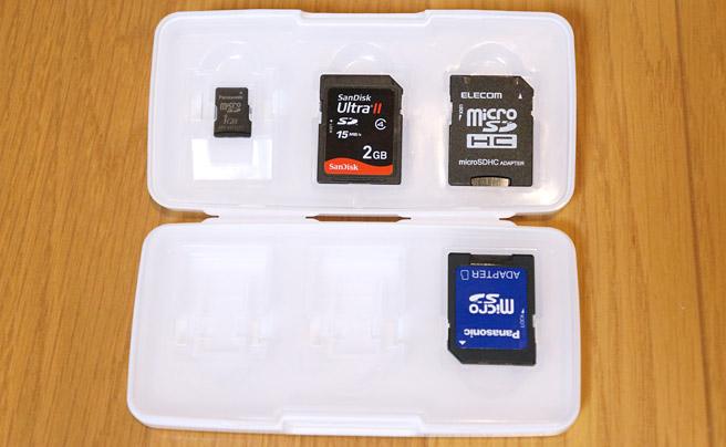 microSDカードが6枚、SDカードが6枚入りますので、合計で最大12枚