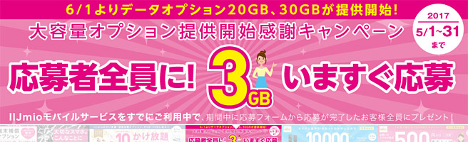 20GNや30GBの大容量データオプションも登場