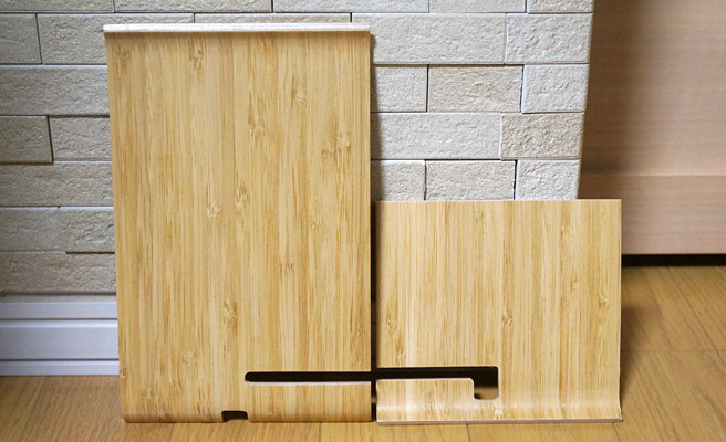 「SIGFINN」の袋を開けると、写真のような竹製の板が2枚入っています