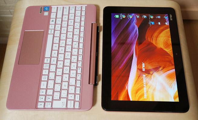 「ASUS TransBook T101HA」は2 in 1ノートパソコンということで、画面とキーボードが分離