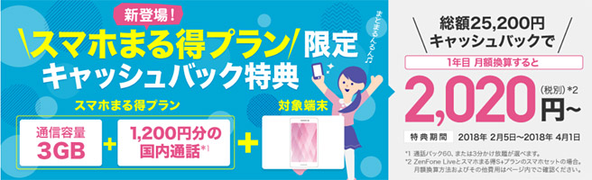 BIGLOBE モバイル(旧BIGLOBE SIM)の「スマホまる得プラン」は割高?!