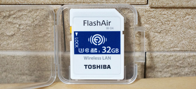 FlashAirはWi-Fi機能を内蔵したSDカード