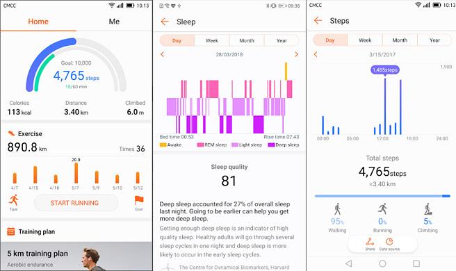 「HUAWEI Band 2 Pro」の機能として、レム睡眠など、より細かく睡眠の質を計測できる「TruSleep」機能が搭載されています。さらに、睡眠の浅くなったタイミングで起こしてくれる「スマートアラーム」も利用できる為、目覚めの良い朝を迎えることができます