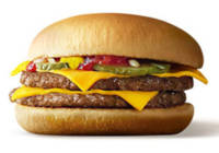 2018年10月のau「三太郎の日」のクーポンはマックのダブルチーズバーガーが無料